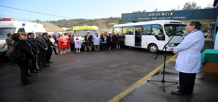 Hospital San José de Coronel renovó el 80% de su flota vehicular de asistencia