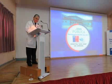 Director Hospital San José de Coronel rindió Cuenta Publica Participativa