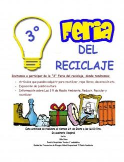 Sala Cuna y Unidad de Prevención de Riesgos, Salud Ocupacional y Medio Ambiente del Hospital de Coronel organizan Tercera Feria de Reciclaje