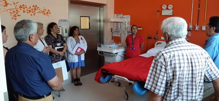 Dirigentes de organizaciones de pueblos originarios participaron de visita guiada al Servicio de Maternidad del Hospital San José de Coronel