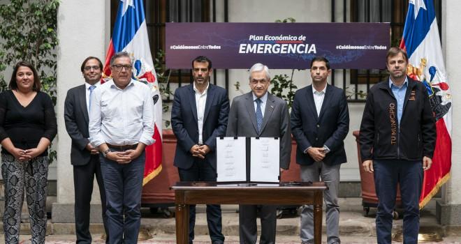 Presidente Piñera anunció un Plan de Emergencia Económica