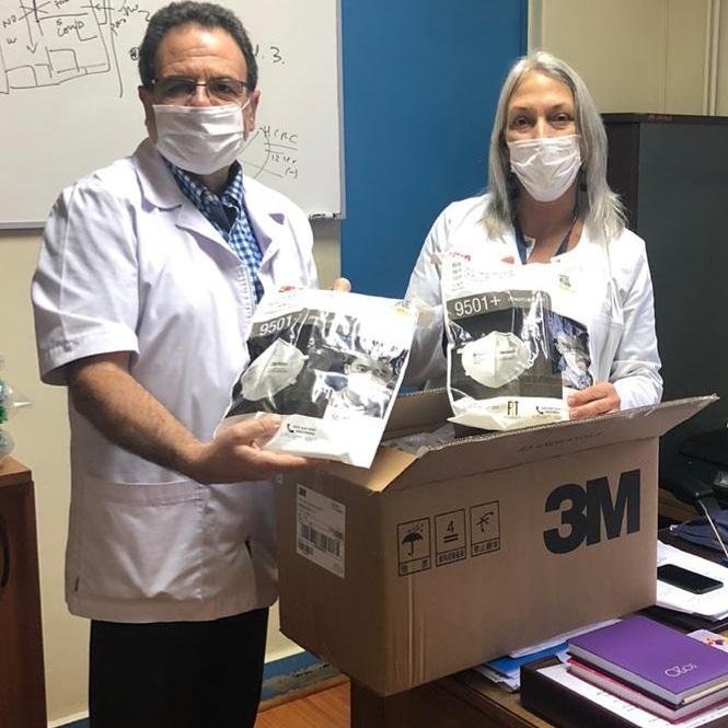Hospital San José de Coronel recibe donaciones de elementos de protección para el personal de salud