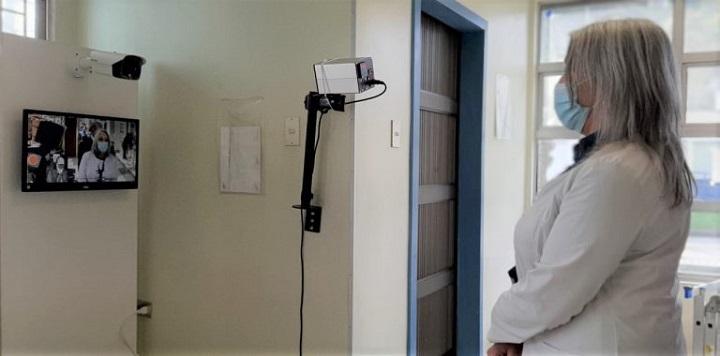 Hospital de San José de Coronel ya cuenta con una cámara térmica para detectar fiebre en usuarios y personal de salud por contingencia Covid-19