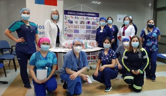 Endulzando Héroes entrega alegría y esperanza a Héroes de la salud del Hospital de Coronel