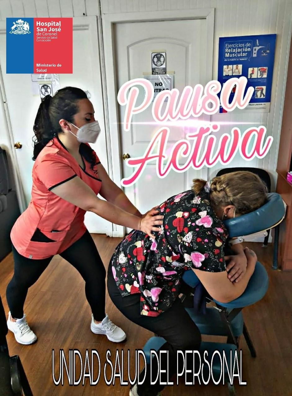 La Unidad de Salud del Personal del Hospital de Coronel impulsa Pausas Activas en funcionarios hospitalarios en pandemia