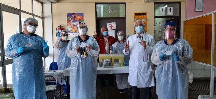 HOSPITAL DE CORONEL COMENZÓ PROCESO DE VACUNACIÓN CONTRA EL COVID 19 PARA LOS GRUPOS PRIORIZADOS